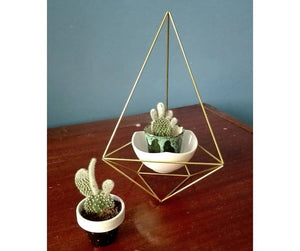 Scandinavian Diamond Geo Terrariums-Set of 2
