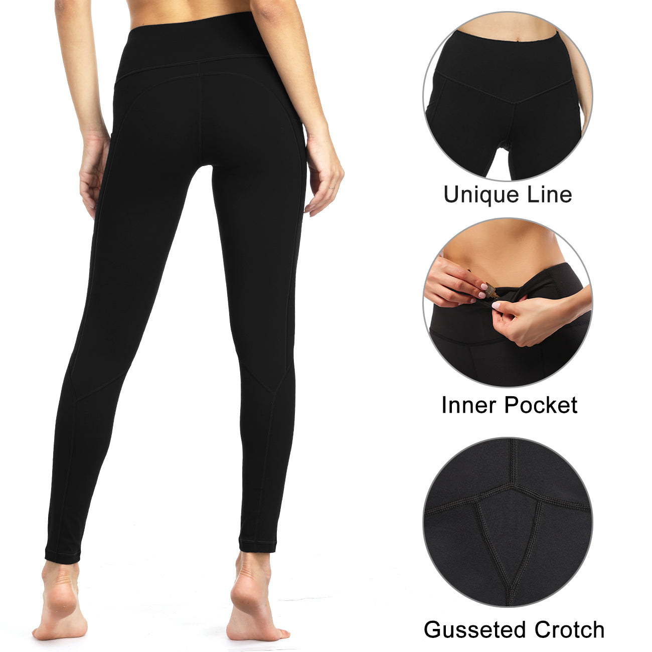 59663f17aee LifeSky Yoga Pants for Women Workout Leggings with Pockets Tummy ...
