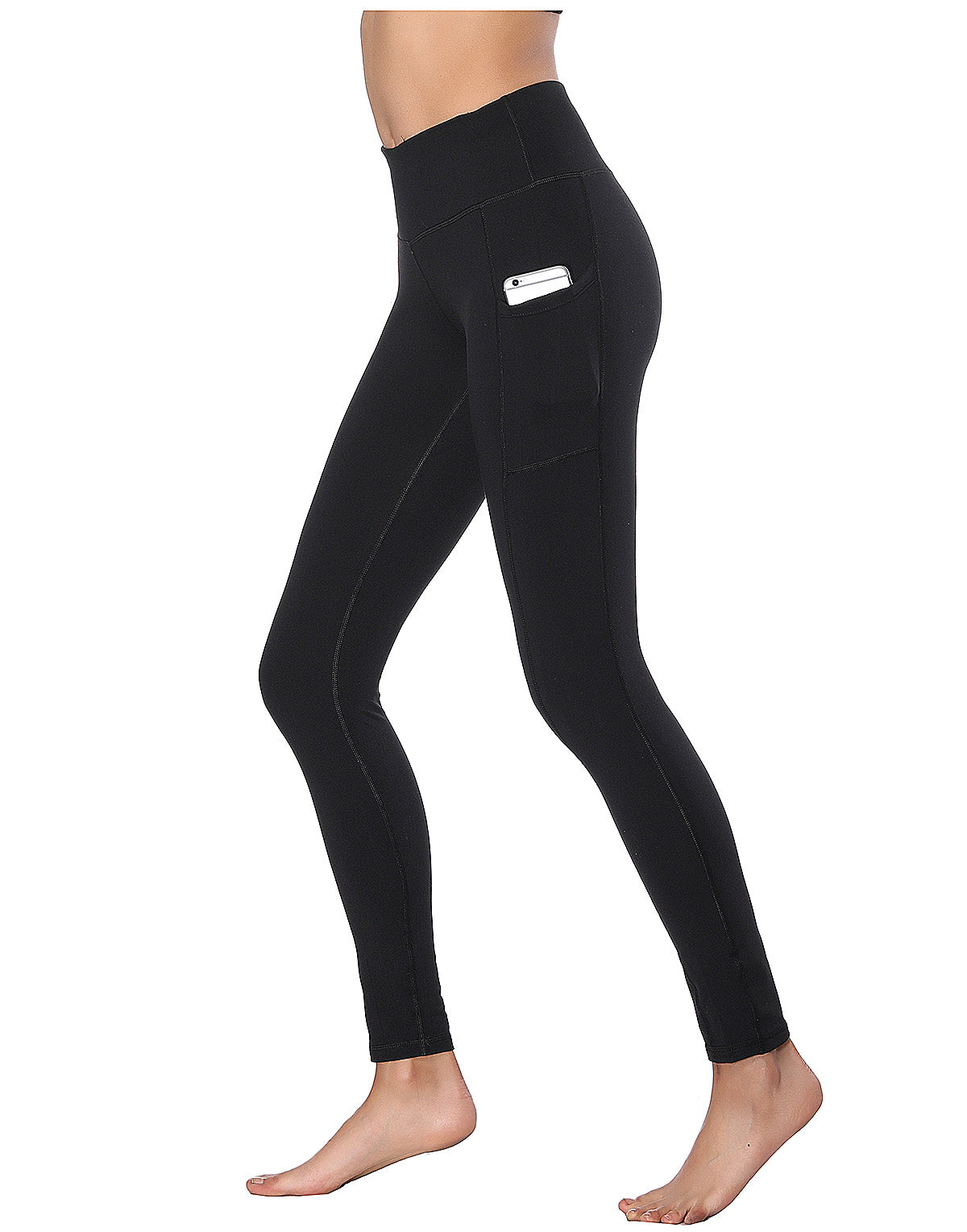 336faf761e157 Women's High Waist Yoga Pants with Side & Inner Pockets Tummy Control Workout  Running 4 Way