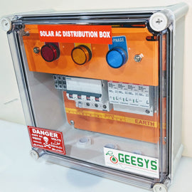 Solar AC distribution box 4-12kw 3Phase - Geesys make - AMPLIFYMART