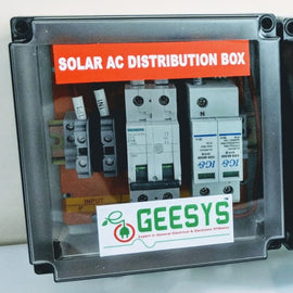 Solar AC distribution box 1-3kw 1Phase - Geesys make - AMPLIFYMART