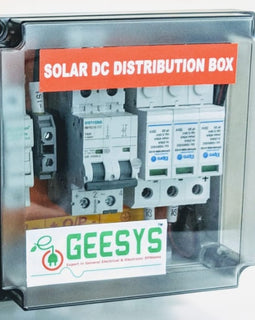 Solar DC distribution box 4-5kw 2 MMPT - Geesys make - AMPLIFYMART