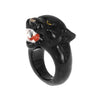 NACH BIJOUX Roaring black panther ring