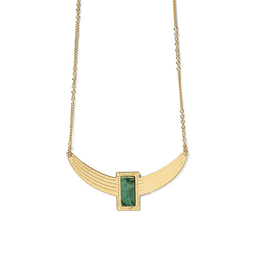 Chic Alors Cornelius Green Wood Necklace