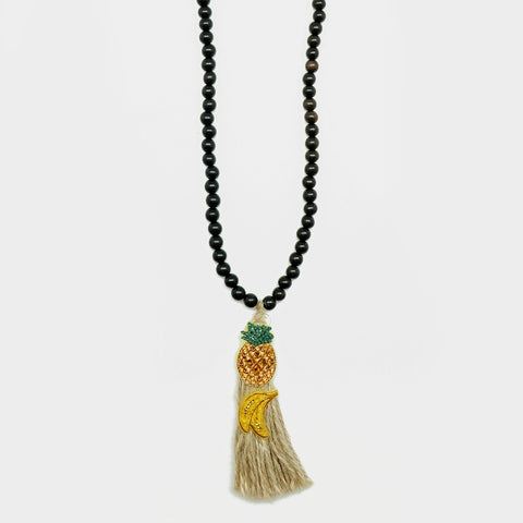 EKATERINI Rosario Pineapples & Bananas Necklace