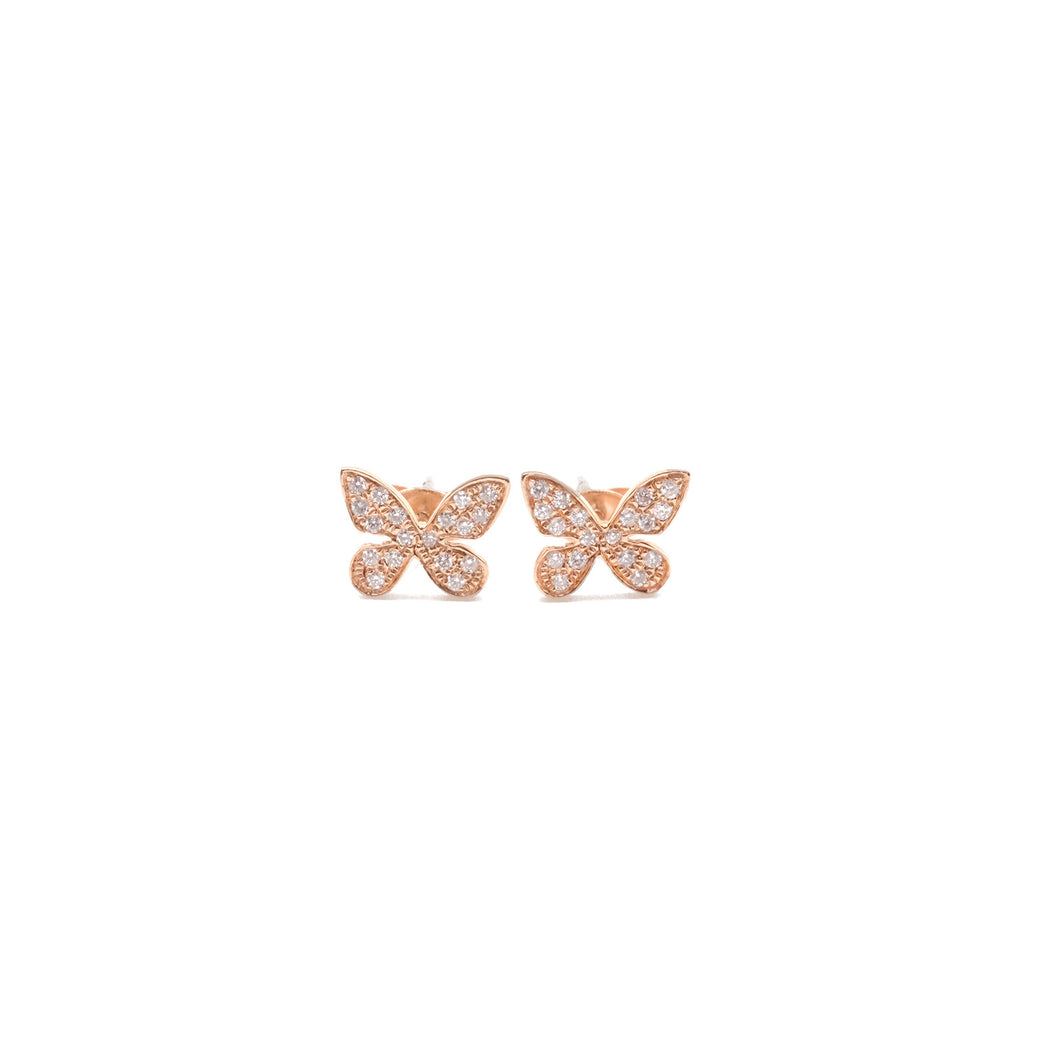 TUNIQUE  18K Butterfly Earrings