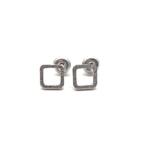 Tunique Hollow Square Brass earrings