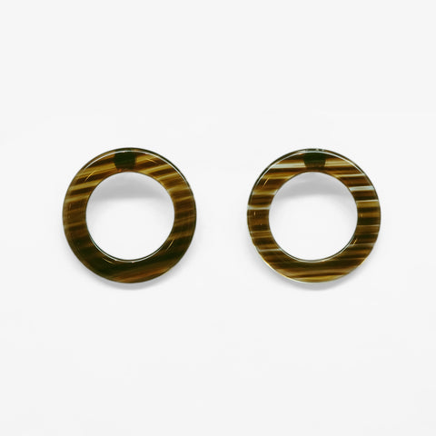 Tunique Marble Circle Earrings