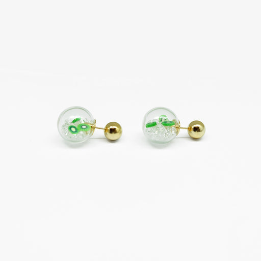 Tunique Kiwi Ball Earrings