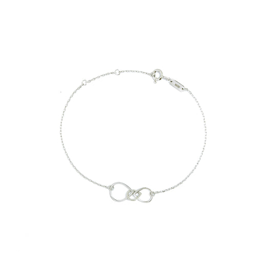 MAMETTE Silver Hollow Drop Bracelet