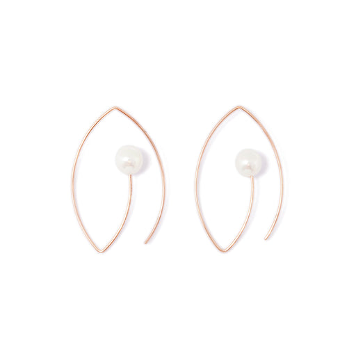 MAMETTE Silver Pearl Earrings