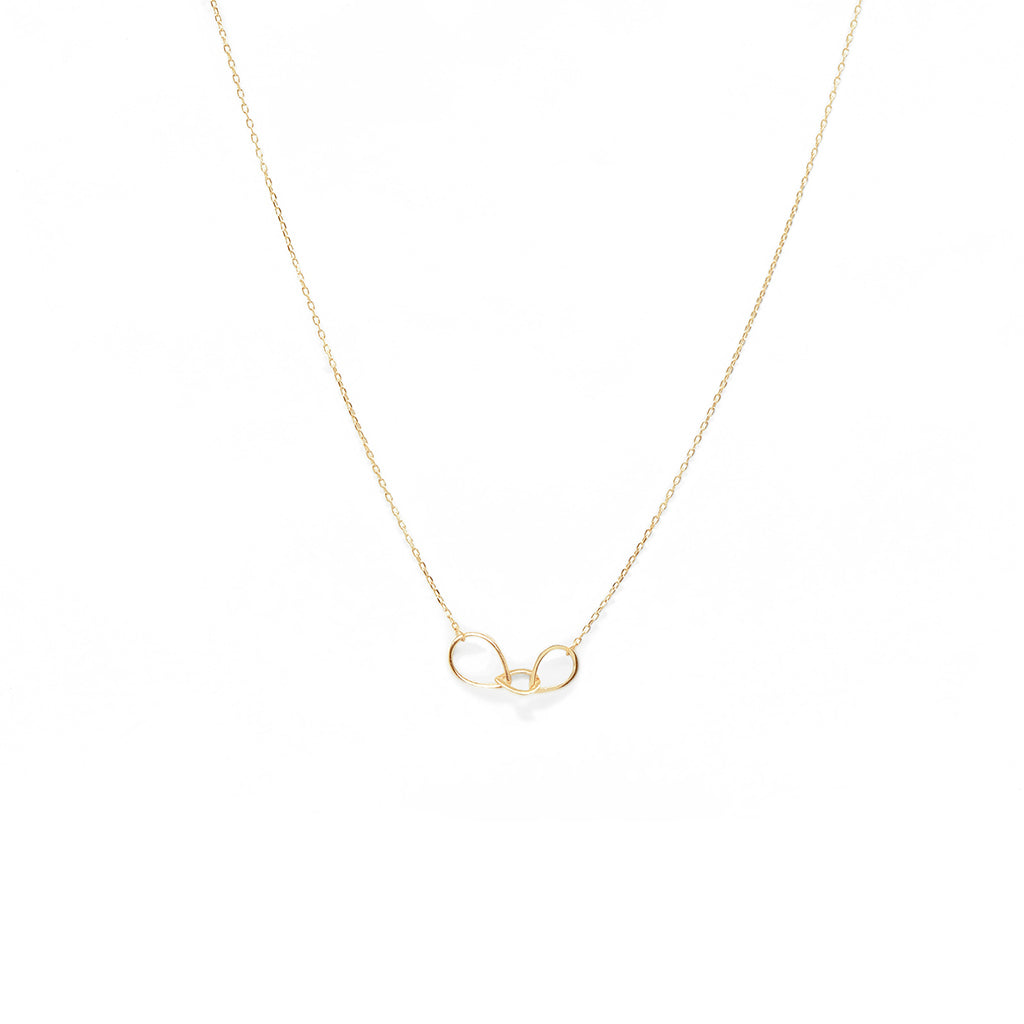 MAMETTE Silver 3 Drop Necklace