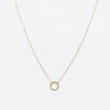 MAMETTE Gold Line Circle Necklace