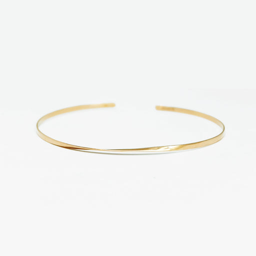 MAMETTE Gold Twist Bangle