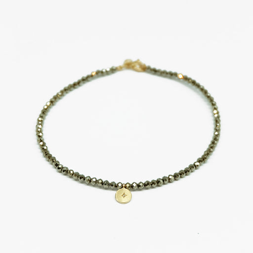 MAMETTE Gold Pyrite Diamond Bracelet