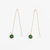 MAMETTE Gold Green Tourmaline Rose Gold Earrings