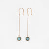 MAMETTE Gold Blue Tourmaline Rose Gold Earrings