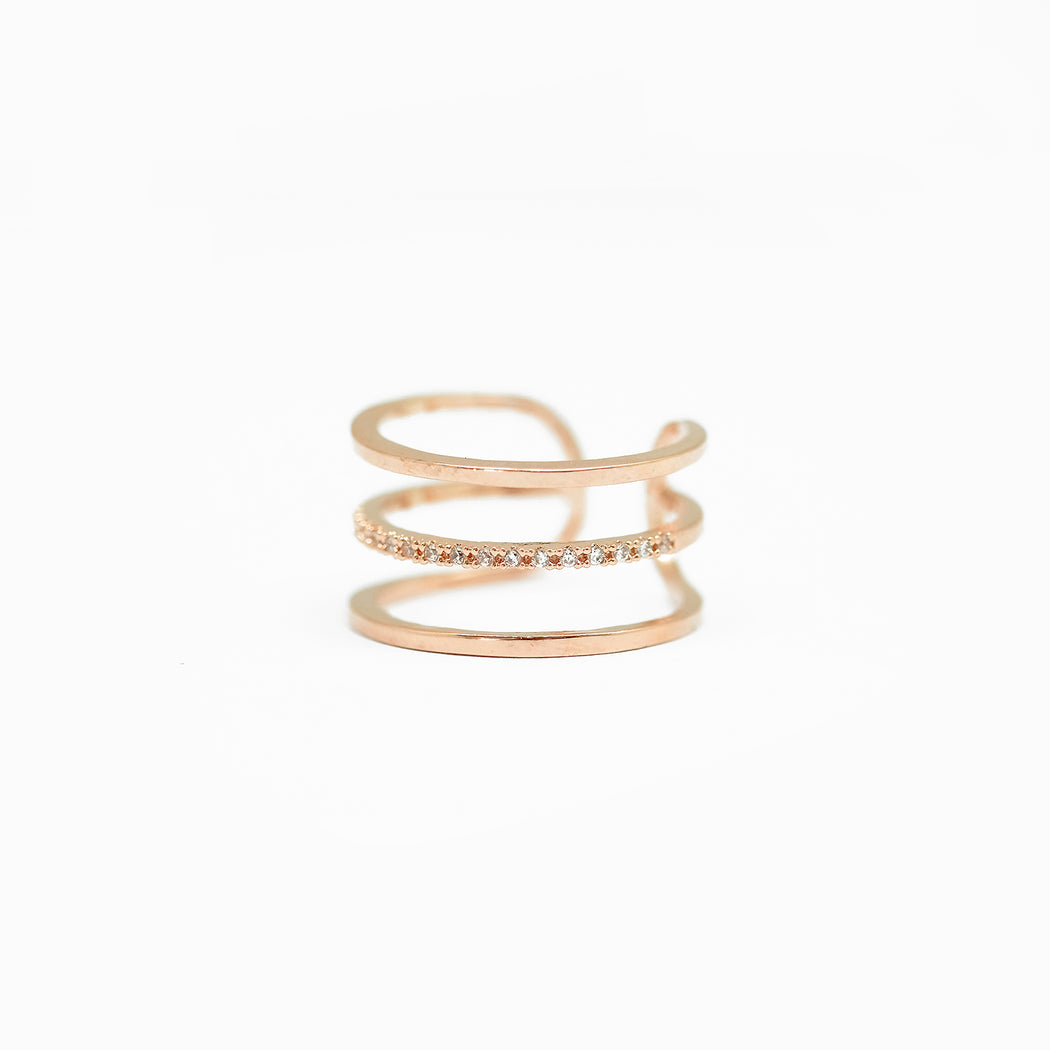 Tunique Three line Ring