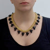 NACH BIJOUX Multi black panthers heads necklace