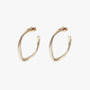 Tunique Warp Hoop Earrings