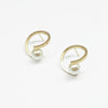 Tunique Twist pearl Hoops Earrings