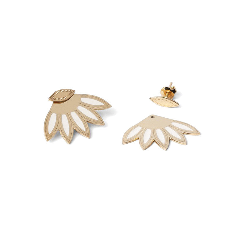 Chic Alors White Lulu Earrings