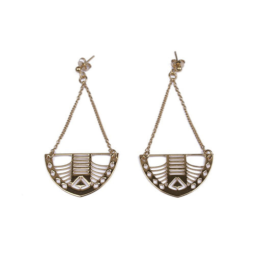 Chic Alors Golden Manola Earrings