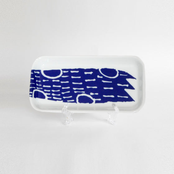 Supermama and TOUCH SpecialCrafts <br> 21cm Long Tray (Blue)