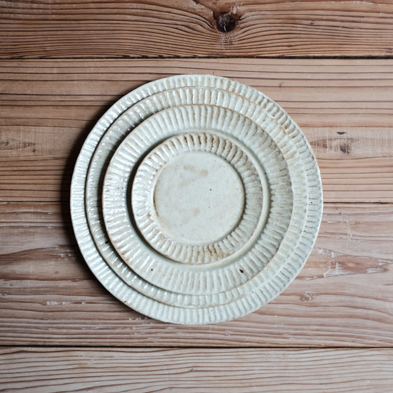 TAMBA-YAKI | Antique Yellow Rim Plate