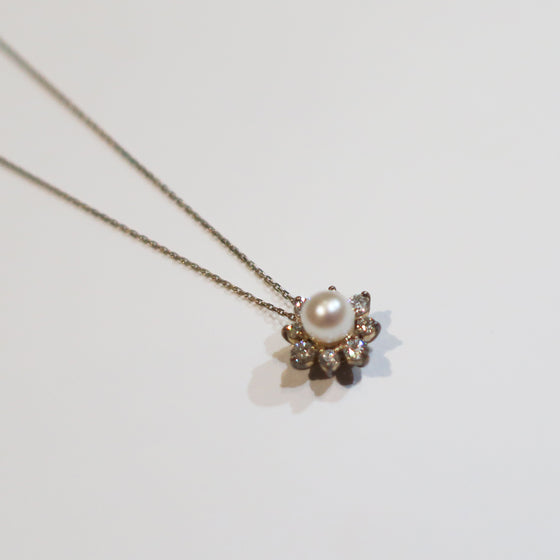Freshwater Pearl Diamond Star Necklace