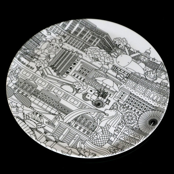 The Singapore Map 20cm Melamine Plate