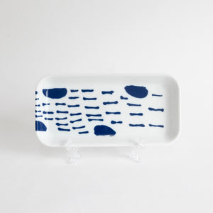 (PREORDER) Singapore Blue | Supermama and TOUCH SpecialCrafts 21cm White Tray
