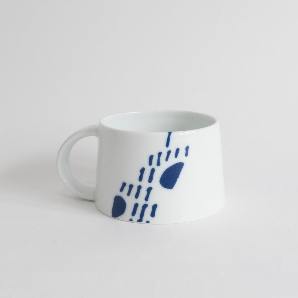 (PREORDER) Singapore Blue | Supermama and TOUCH SpecialCrafts White Mug