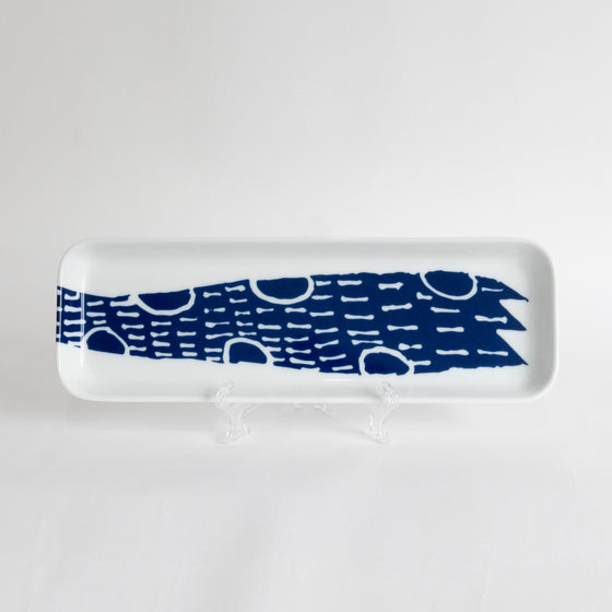 Supermama and TOUCH SpecialCrafts <br> 32cm Long Tray (Blue) </br>