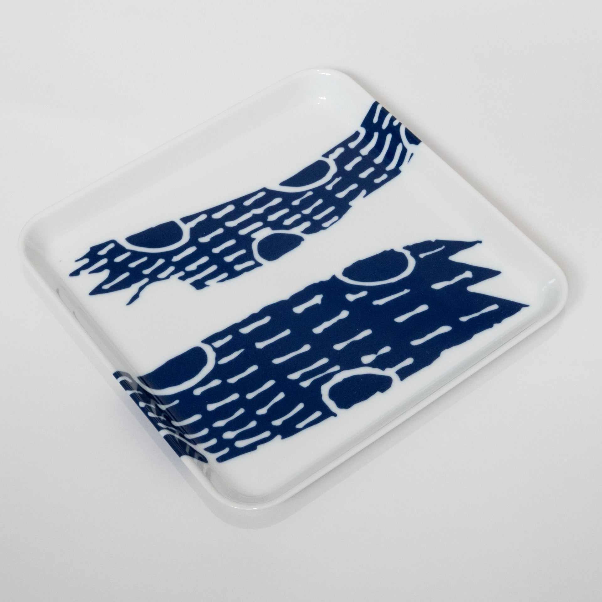 Supermama and TOUCH SpecialCrafts <br> 21cm Square Tray (Blue)