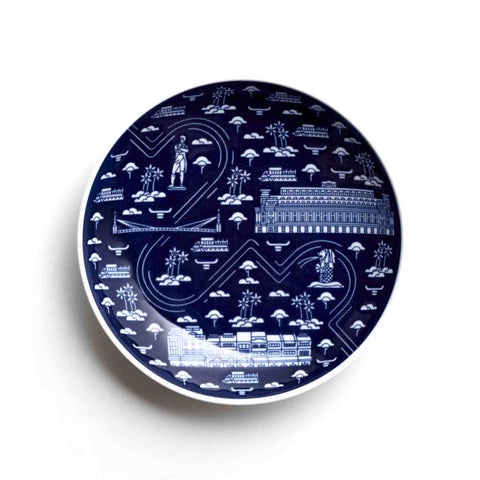 Singapore Architecture - The Singapore River (15cm Porcelain Plate)