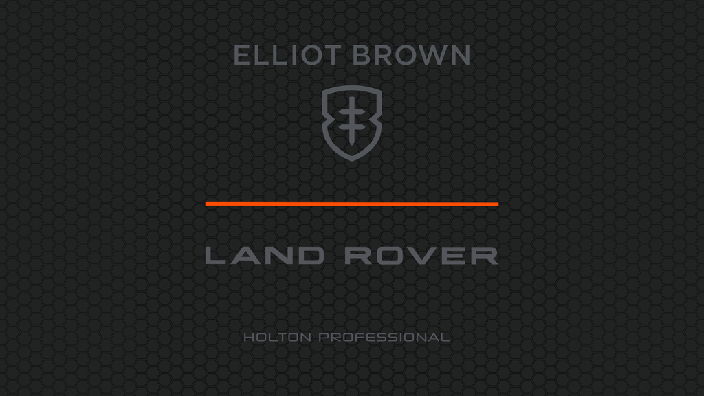 Elliot Brown and Land Rover collaboration