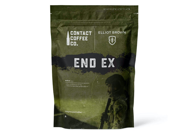 End Ex Coffee Brewed for Elliot Brown by Contact Coffee Co