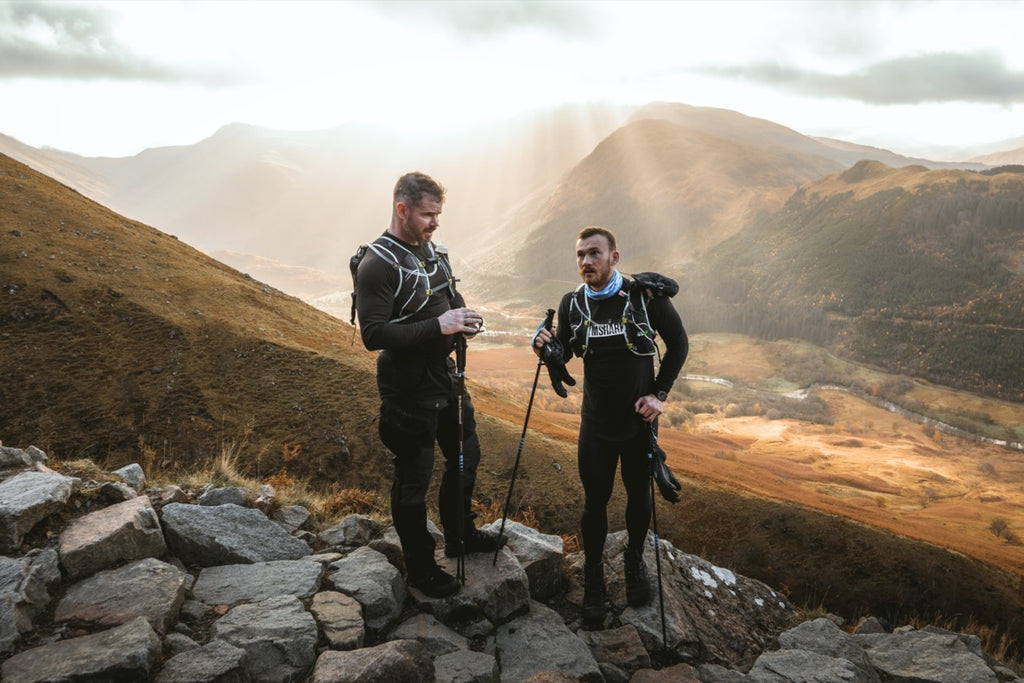 Fergus Crawley and Jonathan Pain on Ben Nevis for Project Vertical