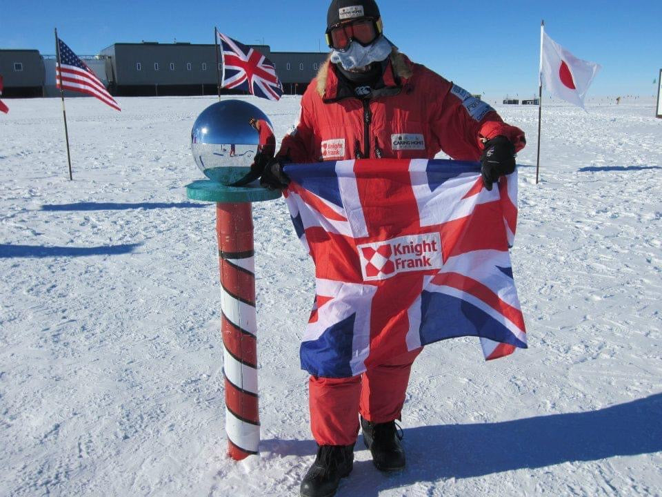 Julian Evans at the North Pole