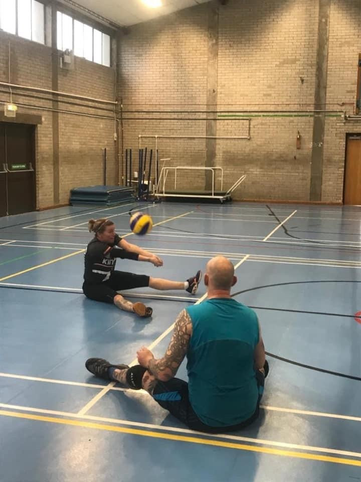Sitting Volleyball training