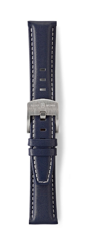 STL-L52: Dark Blue Leather Strap for Kimmeridge