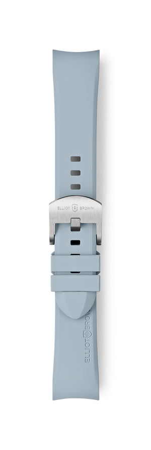 STL-R25: Dove Grey Rubber Strap for Kimmeridge