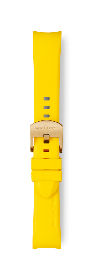 STL-R26: Buttercup Yellow Rubber Strap for Kimmeridge