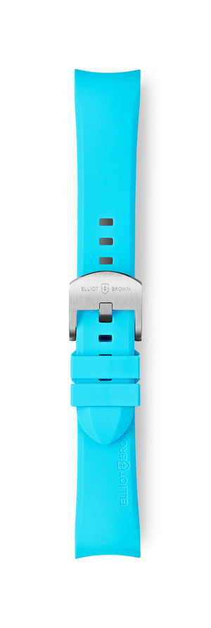 STL-R29: Cyan Blue Rubber Strap for Kimmeridge