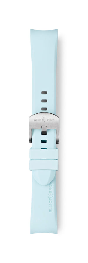 STL-R32: Ice Blue Rubber Strap for Kimmeridge