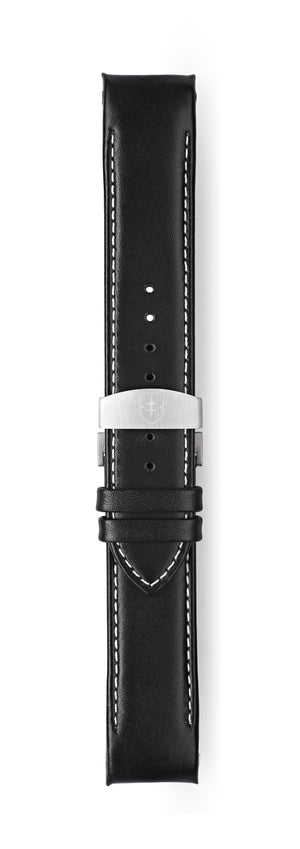 STR-L02: Smooth Black Leather Deployant