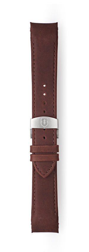 STR-L14: Waxed Brown Tapered Leather Deployant