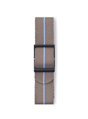 STR-N11: Desert-Brown with Sky Blue Pinstripe Webbing Strap