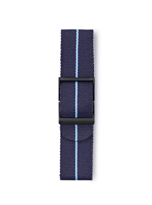 STR-N12: Dark Blue with Sky Blue Pinstripe Webbing Strap